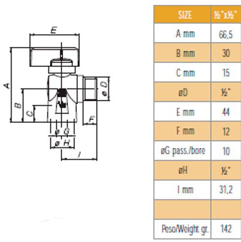 Desenho técnico e dimensões G0356- Bon Gas