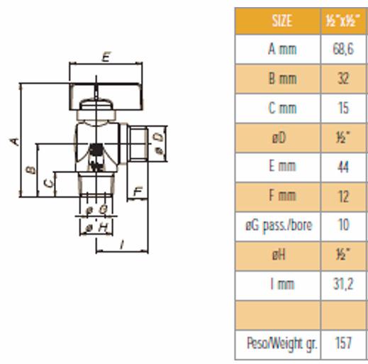 Desenho técnico e dimensões G0358- Bon Gas